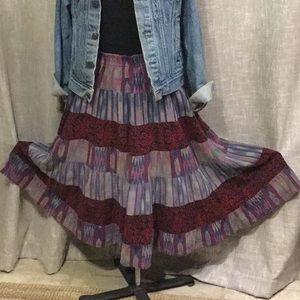 VTG TIERED SKIRT - Carole Little - Hispanic Weave